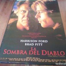 Cine: LA SOMBRA DEL DIABLO - HARRISON FORD, BRAD PITT, MARGARET COLIN - POSTER ORIGINAL COLUMBIA 1997. Lote 235554190
