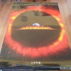Cine: ARMAGEDDON - BRUCE WILLIS, BEN AFFLECK, LIV TYLER, STEVE BUSCEMI - POSTER ORIGINAL 1998 PREVIO. Lote 235555100