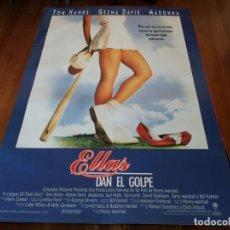 Cine: ELLAS DAN EL GOLPE - GEENA DAVIS, TOM HANKS, MADONNA, LORI PETTY - POSTER ORIGINAL COLUMBIA 1992. Lote 235556595