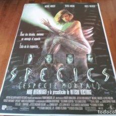 Cine: SPECIES ESPECIE MORTAL - NATASHA HENSTRIDGE, BEN KINGSLEY - POSTER ORIGINAL U.I.P AÑO 1995. Lote 235560055
