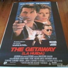 Cine: THE GETAWAY LA HUIDA - ALEC BALDWIN, KIM BASINGER, MICHAEL MADSEN - POSTER ORIGINAL U.I.P 1994. Lote 235562345