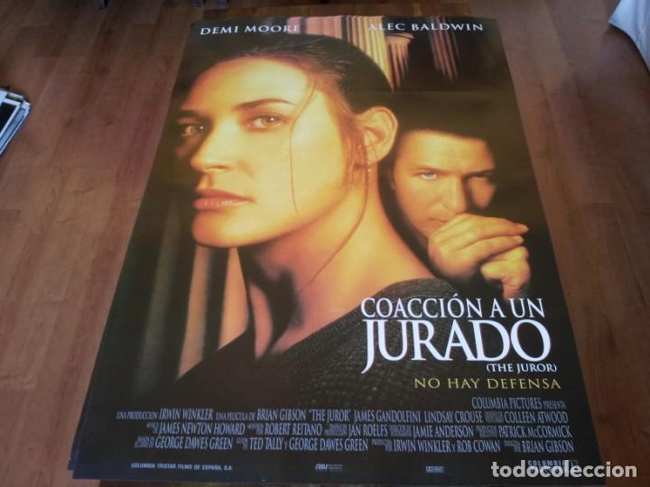 COACCIÓN A UN JURADO - DEMI MOORE, ALEC BALDWIN, ANNE HECHE - POSTER ORIGINAL COLUMBIA 1996 (Cine - Posters y Carteles - Suspense)