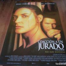 Cine: COACCIÓN A UN JURADO - DEMI MOORE, ALEC BALDWIN, ANNE HECHE - POSTER ORIGINAL COLUMBIA 1996. Lote 235563070