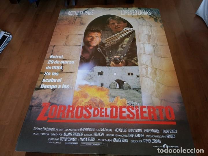ZORROS DEL DESIERTO - MICHAEL PARÉ, LORENZO LAMAS, SHAUL MIZRAHI - POSTER ORIGINAL LAUREN 1991 (Cine - Posters y Carteles - Acción)