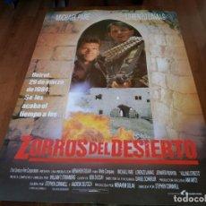 Cine: ZORROS DEL DESIERTO - MICHAEL PARÉ, LORENZO LAMAS, SHAUL MIZRAHI - POSTER ORIGINAL LAUREN 1991. Lote 235565300