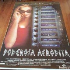 Cine: PODEROSA AFRODITA - MIRA SORVINO, JACK WARDEN - DIR. WOODY ALLEN - POSTER ORIGINAL LAUREN 1995. Lote 235566770