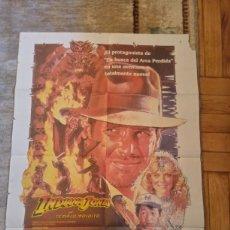 Cine: CARTEL INDIANA JONES Y EL TEMPLO MALDITO 1984 HARRISON FORD STEVEN SPIELBERG. Lote 235631405
