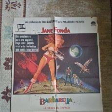 Cine: CARTEL BARBARELLA ESTRENO ESPAÑA 1975 JANE FONDA ROGER VADIM. Lote 235652490
