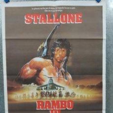Cine: RAMBO III. SILVESTER STALLONE. AÑO 1988 ESTRENO. POSTER ORIGINAL. Lote 235670300