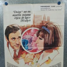 Cine: VUELVE A MI LADO. BARBRA STREISAND, YVES MONTAND. AÑO 1970. POSTER ORIGINAL. Lote 235672640
