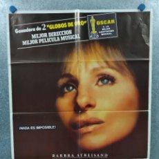 Cine: YENTL. BARBRA STREISAND, MANDY PATINKIN. AÑO 1983. POSTER ORIGINAL. Lote 235673645