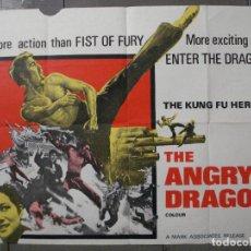 Cine: CDO 8426 THE ANGRY DRAGON SUM CHEUNG KUNG FU POSTER ORIGINAL 76X102 BRITISH QUAD. Lote 235727360