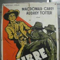 Cine: CDO 8430 MAN OR GUN / CALIBRE 44 MACDONALD CAREY AUDRY TOTTER POSTER ORIGINAL FRANCES 60X80. Lote 235735195