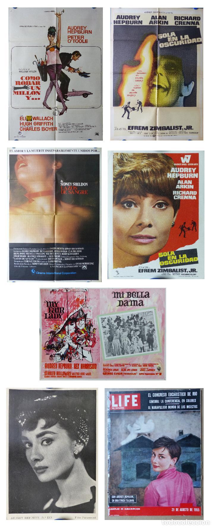 AUDREY HEPBURN - 7 ARTICULOS, POSTERS, FOTO, REVISTA, FOTOCROMO, VER DESCRIPCION Y FOTOS ADICIONALES (Cine- Posters y Carteles - Drama)
