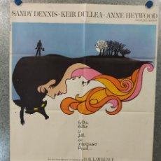 Cine: LA ZORRA. THE FOX. SANDY DENNIS, KEIR DULLEA, ANNE HEYWOOD. AÑO 1978. POSTER ORIGINAL. Lote 269096728