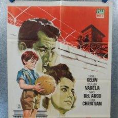 Cine: EL NIÑO Y EL MURO. DANIEL GELIN, YOLANDA VARELA, NINO DEL ARCO. FUTBOL. AÑO 1965. Lote 235884175