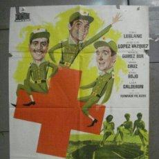 Cine: CDO 8452 3 DE LA CRUZ ROJA TONY LEBLANC FUTBOL REAL MADRID POSTER ORIGINAL 70X100 ESTRENO. Lote 235893905