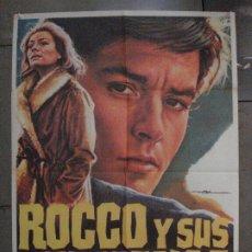 Cine: CDO 8458 ROCCO Y SUS HERMANOS LUCHINO VISCONTI ALAIN DELON MAC POSTER ORIGINAL ESPAÑOL 70X100 R-70'S. Lote 235901395