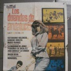 Cine: CDO 8482 LOS DUENDES DE ANDALUCIA ANA MARISCAL FLAMENCO POSTER ORIGINAL 70X100 ESTRENO. Lote 235924740