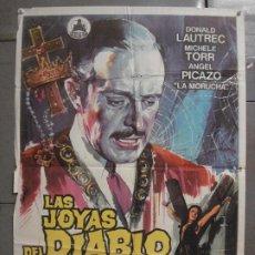 Cine: CDO 8484 LAS JOYAS DEL DIABLO EL SECRETO DEL TOISON DE ORO JOSE ELORRIETA POSTER ORIG 70X100 ESTRENO. Lote 235928550