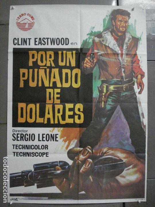 AAS56 POR UN PUÑADO DE DOLARES CLINT EASTWOOD SERGIO LEONE JANO POSTER ORIGINAL 70X100 ESPAÑOL (Cine - Posters y Carteles - Westerns)