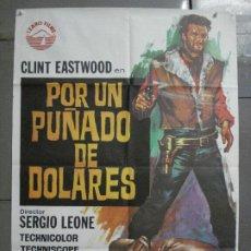 Cine: AAS56 POR UN PUÑADO DE DOLARES CLINT EASTWOOD SERGIO LEONE JANO POSTER ORIGINAL 70X100 ESPAÑOL. Lote 235941225