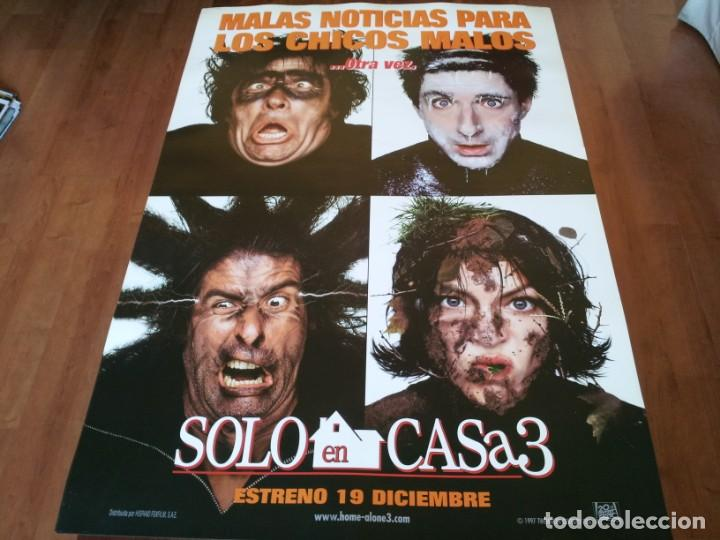 SOLO EN CASA 3 - ALEX D. LINZ, OLEK KRUPA, RYA KIHLSTEDT - POSTER ORIGINAL FOX 1997 PREVIO (Cine - Posters y Carteles - Comedia)