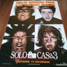 Cine: SOLO EN CASA 3 - ALEX D. LINZ, OLEK KRUPA, RYA KIHLSTEDT - POSTER ORIGINAL FOX 1997 PREVIO. Lote 235999545