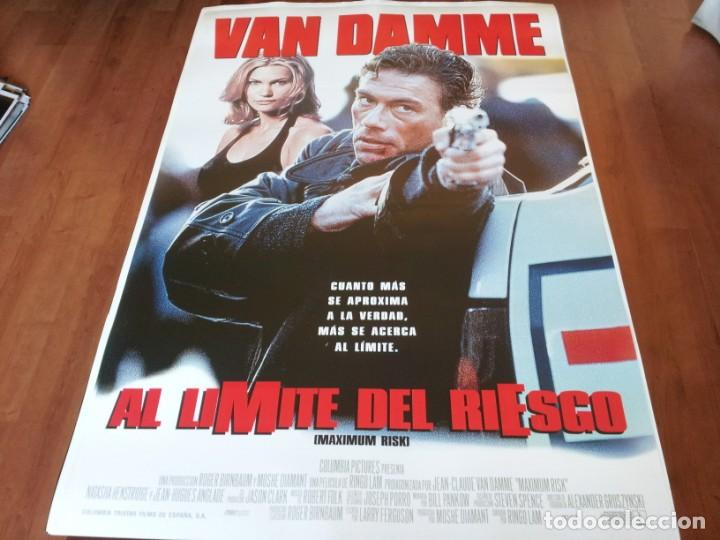AL LÍMITE DEL RIESGO - JEAN-CLAUDE VAN DAMME, NATASHA HENSTRIDGE - POSTER ORIGINAL COLUMBIA 1996 (Cine - Posters y Carteles - Acción)