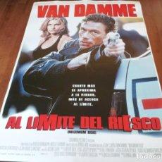 Cine: AL LÍMITE DEL RIESGO - JEAN-CLAUDE VAN DAMME, NATASHA HENSTRIDGE - POSTER ORIGINAL COLUMBIA 1996. Lote 236002495