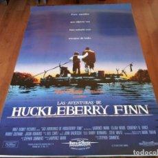 Cine: LAS AVENTURAS DE HUCKLEBERRY FINN - ELIJAH WOOD, COURTNEY B. VANCE - POSTER ORIGINAL BUENAVISTA 1993. Lote 236003030