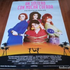 Cine: UN SOLTERO CON MUCHA CUERDA - ZACH GALLIGAN,TERI HATCHER,LARA HARRIS - POSTER ORIGINAL COLUMBIA 1993. Lote 236003605
