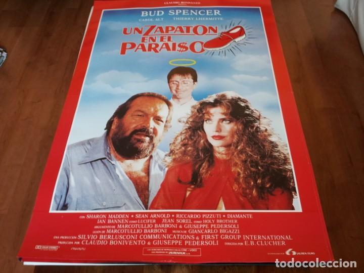 UN ZAPATÓN EN EL PARAÍSO - BUD SPENCER, CAROL ALT, THIERRY LHERMITTE - POSTER ORIGINAL LAUREN 1991 (Cine - Posters y Carteles - Comedia)