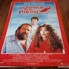 Cine: UN ZAPATÓN EN EL PARAÍSO - BUD SPENCER, CAROL ALT, THIERRY LHERMITTE - POSTER ORIGINAL LAUREN 1991. Lote 236004240