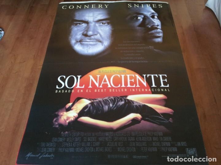 SOL NACIENTE - SEAN CONNERY, WESLEY SNIPES, HARVEY KEITEL - POSTER ORIGINAL FOX 1993 (Cine - Posters y Carteles - Suspense)