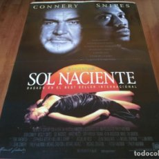 Cine: SOL NACIENTE - SEAN CONNERY, WESLEY SNIPES, HARVEY KEITEL - POSTER ORIGINAL FOX 1993. Lote 236006850
