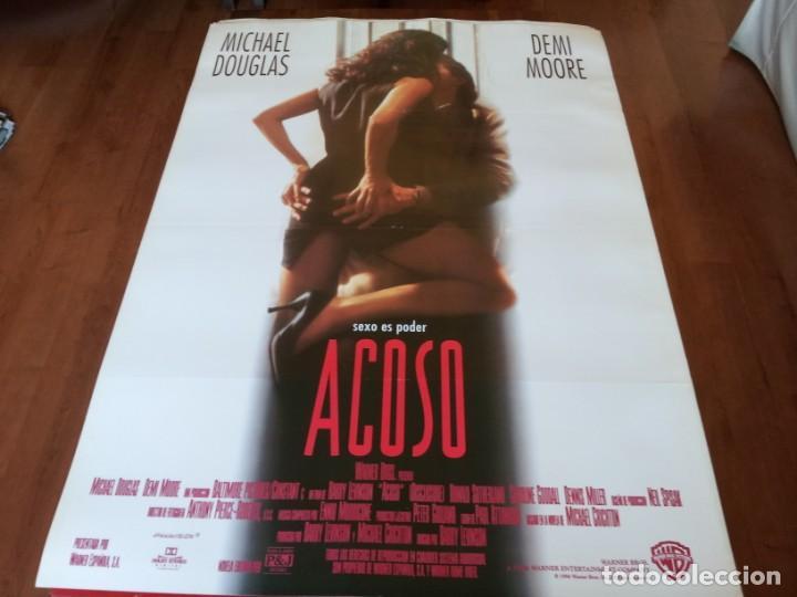 ACOSO - DEMI MOORE, MICHAEL DOUGLAS, DONALD SUTHERLAND - POSTER ORIGINAL WARNER 1994 (Cine - Posters y Carteles - Suspense)