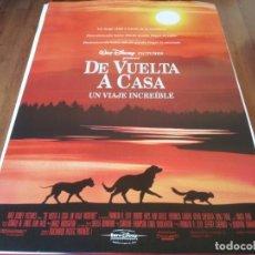 Cine: DE VUELTA A CASA, UN VIAJE INCREÍBLE - VERONICA LAUREN, KEVIN CHEVALIA - POSTER ORIGINAL DISNEY 1993. Lote 236009050