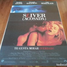 Cine: SLIVER ACOSADA - SHARON STONE, WILLIAM BALDWIN, TOM BERENGER - POSTER ORIGINAL U.I.P 1993. Lote 236016670