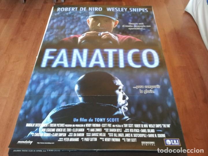 FANÁTICO - ROBERT DE NIRO, WESLEY SNIPES, ELLEN BARKIN - POSTER ORIGINAL TRIPICTURES 1996 (Cine - Posters y Carteles - Suspense)