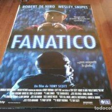 Cine: FANÁTICO - ROBERT DE NIRO, WESLEY SNIPES, ELLEN BARKIN - POSTER ORIGINAL TRIPICTURES 1996. Lote 236020990