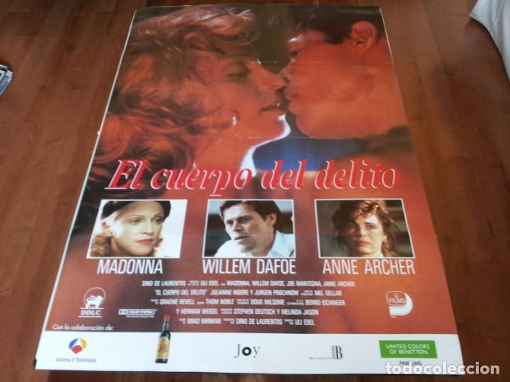 EL CUERPO DEL DELITO - MADONNA, WILLEM DAFOE, JOE MANTEGNA - POSTER ORIGINAL UNION 1993 (Cine - Posters y Carteles - Suspense)