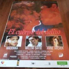 Cine: EL CUERPO DEL DELITO - MADONNA, WILLEM DAFOE, JOE MANTEGNA - POSTER ORIGINAL UNION 1993. Lote 253552895