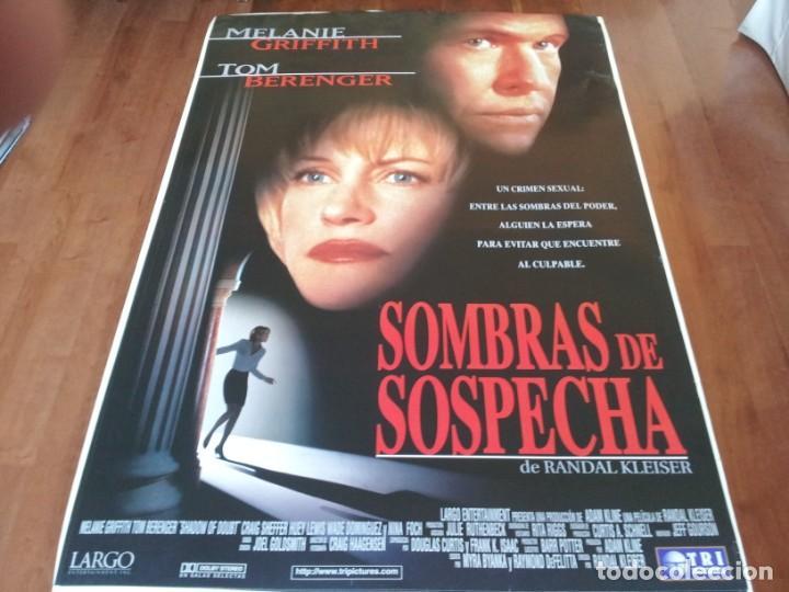 SOMBRAS DE SOSPECHA - MELANIE GRIFFITH, TOM BERENGER, HUEY LEWIS - POSTER ORIGINAL TRIPICTURES 1998 (Cine - Posters y Carteles - Suspense)