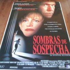 Cine: SOMBRAS DE SOSPECHA - MELANIE GRIFFITH, TOM BERENGER, HUEY LEWIS - POSTER ORIGINAL TRIPICTURES 1998. Lote 236023270