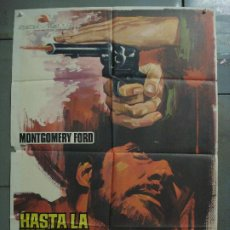 Cine: CDO 8507 HASTA LA ULTIMA GOTA DE SANGRE BRETT HALSEY SPAGHETTI JANO POSTER ORIGINAL ESTRENO 70X100. Lote 236023615