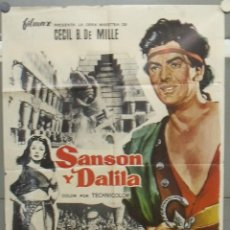 Cine: OP07D SANSON Y DALILA CECIL B. DEMILLE HEDY LAMARR VICTOR MATURE POSTER ORIGINAL 70X100 ESPAÑOL R-65. Lote 236023900