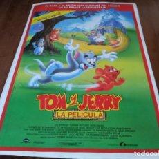Cine: TOM Y JERRY LA PELÍCULA - ANIMACION - POSTER ORIGINAL LAUREN 1992. Lote 236024735