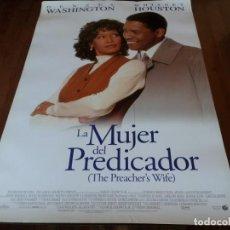 Cine: LA MUJER DEL PREDICADOR - DENZEL WASHINGTON, WHITNEY HOUSTON - POSTER ORIGINAL BUENAVISTA 1996. Lote 258892915