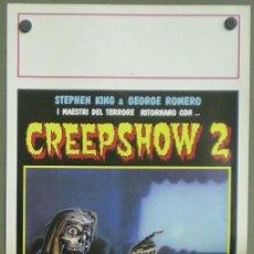 Cine: 2UU73D CREEPSHOW 2 STEPHEN KING TERROR POSTER ORIGINAL ITALIANO 33X70. Lote 236028440